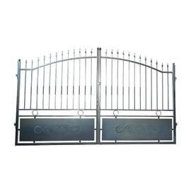 Cancello Krakatoa in ferro zincato L 350 x H 180 - 200 cm