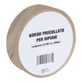 Bordo preincollato rovere naturale 500 x 2.8 cm