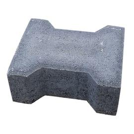 Lastra doppio t autobloccante cemento 16.3 x 19.8 cm Sp 80 mm grigio 0.032 mq