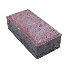 Lastra mattone autobloccante cemento 16.3 x 19.8 cm Sp 80 mm rosso 0.032 mq