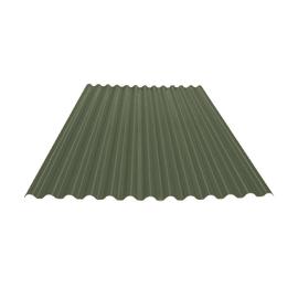 Lastra ondulata TECNOIMAC Ecolina in polimglass® 110 x 200 cm, Sp 1.8 mm verde