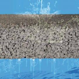Lastra filtrante autobloccante calcestruzzo 10 x 20 cm Sp 60 mm grigio 0.02 mq