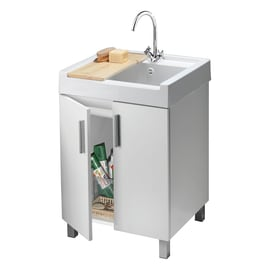Mobile lavanderia Mavi bianco L 59.2 x P 62.4 x H 84 cm