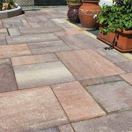 Lastra sandstone calcestruzzo 40 x 120 cm Sp 48 mm grigio arancio 7.68 mq