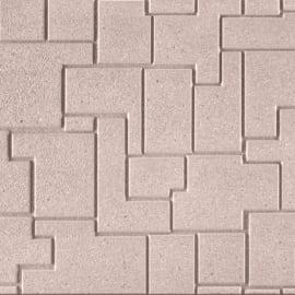 Lastra tetris cemento 40 x 60 cm Sp 40 mm tortora bancale da 13.46 mq
