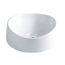 Lavabo da appoggio Rotondo Onda in ceramica Ø 40 x H 14 cm bianco