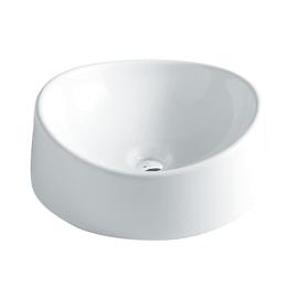 Lavabo Rotondo Texture in ceramica Ø 40 x H 14 cm bianco