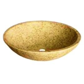 Lavabo da appoggio Rotondo Pietracrema in pietra Ø 45 x H 15 cm crema