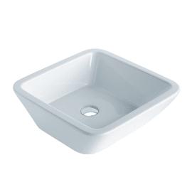 Lavabo da appoggio quadrato Texture in ceramica L 45 x P 45 x H 16 cm bianco