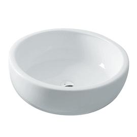 Lavabo da appoggio Rotondo Tonda in ceramica Ø 41 x H 13 cm bianco