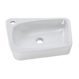 Lavabo da appoggio Rettangolare Aragon in ceramica L 50 x P 40.5 x H 10 cm bianco