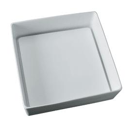 Lavabo free-standing da appoggio quadrato Trabocchetto in poliresina L 40 x P 40 x H 13 cm bianco