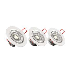 Faretto fisso da incasso orientabile tondo Tris in plastica, bianco, diam. 8.6 cm LED integrato 5.6W 345LM IP20 YANTEC