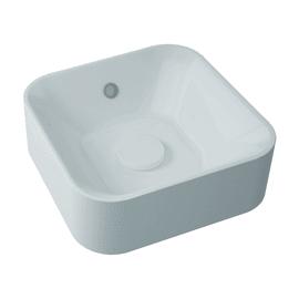 Lavabo free-standing da appoggio quadrato Capsule in resina L 38 x P 38 x H 13.2 cm bianco