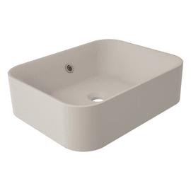 Lavabo da appoggio Rettangolare Capsule in resina L 48 x P 38 x H 38 cm beige / naturale