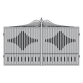 Cancello Fuji in ferro verniciato L 400 x H 180 - 200 cm