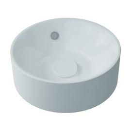Lavabo free-standing da appoggio Rotondo Capsule in resina Ø 38 x H 13.2 cm bianco