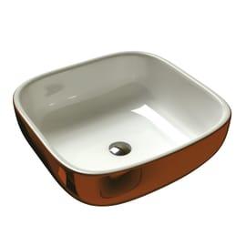 Lavabo da appoggio quadrato Sioma Copper in ceramica L 41 x P 41 x H 41 cm marrone