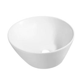 Lavabo da appoggio Rotondo Svaso in ceramica Ø 46 x H 18 cm bianco