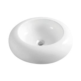 Lavabo da appoggio Rotondo Big in ceramica Ø 46 x H 18 cm bianco