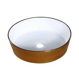 Lavabo da appoggio Rotondo Mawi in ceramica Ø 38.5 x H 10.5 cm marrone