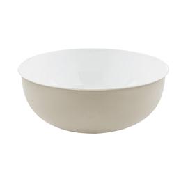 Lavabo free-standing da appoggio Rotondo Open in metallo cromato Ø 39 x H 16 cm bianco