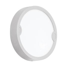 Applique Alfena-R tondo LED integrato in alluminio, grigio, 10W 1000LM IP44