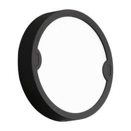 Applique Alfena-R nero tondo LED integrato in alluminio, nero, 10W 1000LM IP44
