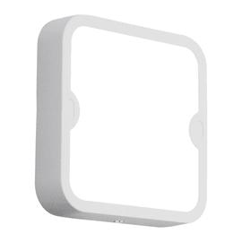 Applique Alfena-S quadrato LED integrato in alluminio, bianco, 10W 1000LM IP44