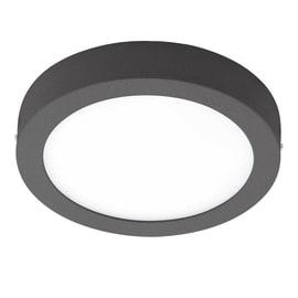 Plafoniera Argolis LED integrato in alluminio, nero, 16.5W 1600LM IP54 EGLO