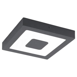 Applique Iphias nero LED integrato in alluminio, grigio, 16.5W 1700LM IP44 EGLO