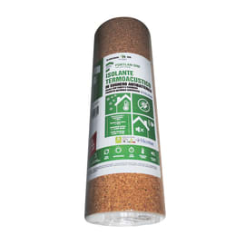 Rotolo isolante FORTLAN supercompresso in sughero 10 x 1 m, Sp 2 mm
