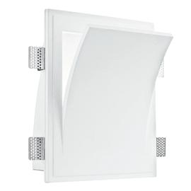 Faretto fisso da incasso quadrato I-ANIMA-AP2 in vetro, bianco, E14 13W IP20