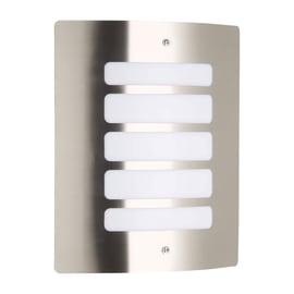 Applique Todd in alluminio, grigio bianco, E27 MAX60W IP44 BRILLIANT