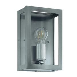 Applique Alamonte in acciaio, grigio, E27 MAX60W IP44 EGLO