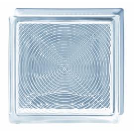 Vetromattone trasparente lucido Pedonabile H 19 x L 19 x Sp 8 cm