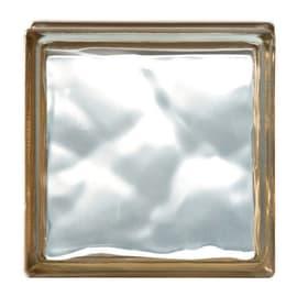 Vetromattone oro ondulato H 19 x L 19 x Sp 8 cm