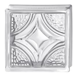 Vetromattone trasparente intrecciato H 19 x L 19 x Sp 8 cm