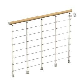 Balaustra faggio  in legno bianco L 1200 x P 120 x H 1000 mm