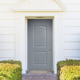 Portoncino d'ingresso Classic3 grigio L 90 x H 210 cm sinistra
