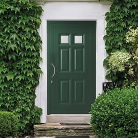Portoncino d'ingresso Classic4 verde L 90 x H 210 cm destra
