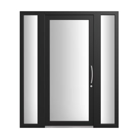 Portoncino d'ingresso Condo12 nero L 170 x H 210 cm sinistra