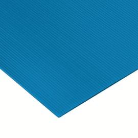 Lastra polionda polipropilene alveolare azzurro 100 cm x 100 cm, Sp 2.5 mm