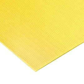 Lastra polionda polipropilene alveolare giallo 100 cm x 100 cm, Sp 2.5 mm