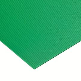 Lastra polionda polipropilene alveolare verde 100 cm x 100 cm, Sp 2.5 mm