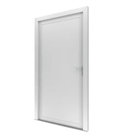 Portoncino d'ingresso Basa bianco L 90 x H 210 cm sinistra