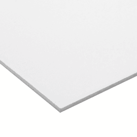 Lastra pvc espanso bianco 100 cm x 100 cm, Sp 3 mm