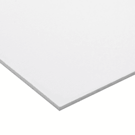 Lastra pvc espanso bianco 50 cm x 100 cm, Sp 3 mm