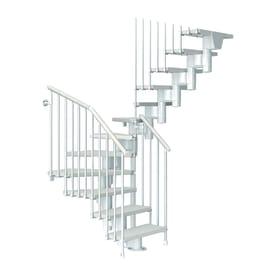 Scala a rampa a u Long FONTANOT L 65 cm, gradino bianco, struttura bianco