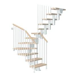 Scala a rampa a u Long FONTANOT L 65 cm, struttura bianco